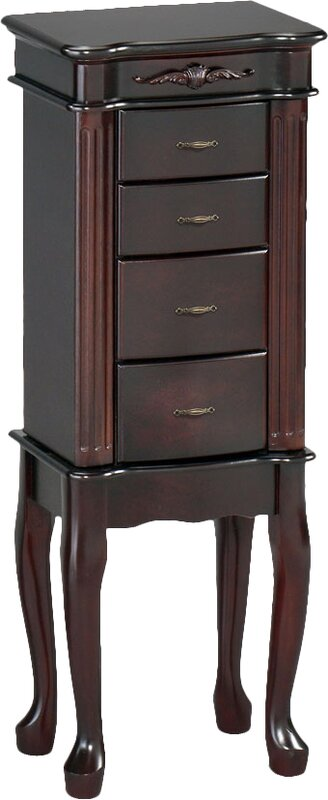 Wildon Home Traditional Jewelry Armoire with Mirror Reviews