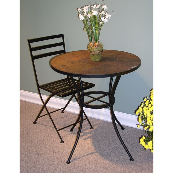 Alcott Hill Barker Ridge Round Bistro Table with Slate Top