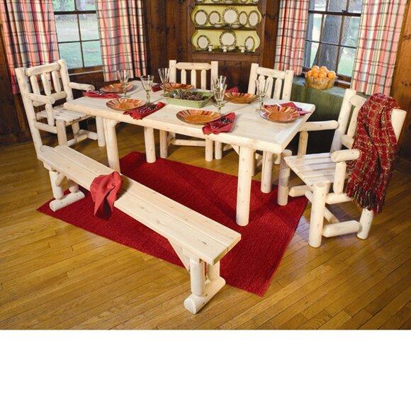 Rustic Cedar Solid Top Cedar Dining Table & Reviews | Wayfair