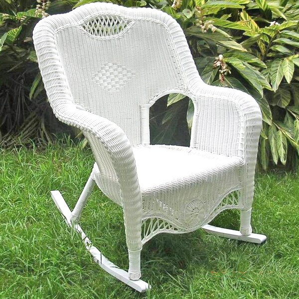 Riviera Wicker Resin Aluminum Large Patio Rocking Chair & Reviews ...