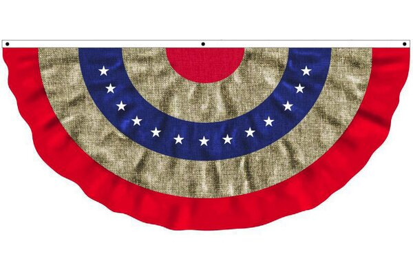 Evergreen Flag & Garden Patriotic Bunting Pleated Flag & Reviews ...