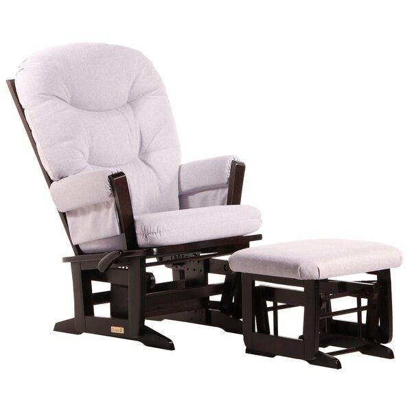 Dutailier multi position frame glider and nursing ottoman for Chaise bercante dutailier