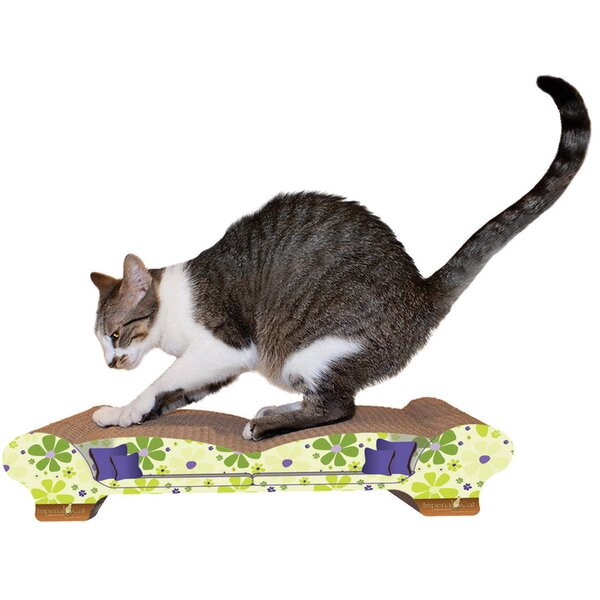 Imperial cat scratch 39 n shapes love seat recycled paper for Chaise lounge cat scratcher