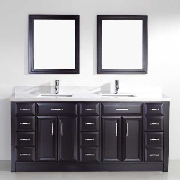 bauhaus bath caledonia 75 double bathroom vanity set. Black Bedroom Furniture Sets. Home Design Ideas