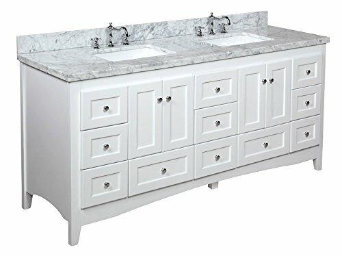 kbc abbey 72 double bathroom vanity set reviews wayfair - Wayfair Bathroom Vanity