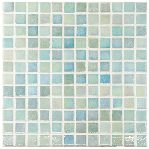 """Mother Of Pearl Mosaic Nightstand Im Obsessed: EliteTile Colgadilla 0.88"""" X 0.88"""" Glass Mosaic Tile In"""