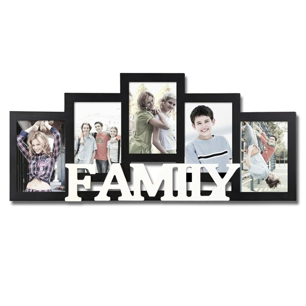 Adecotrading 5 Opening Wooden Photo Collage Wall Hanging Picture