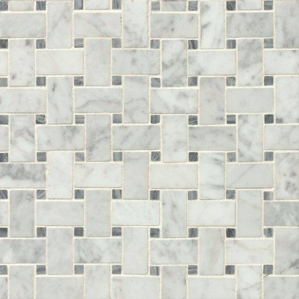 "Bedrosians Honed 12"" X 12"" Honed Marble Mosaic Tile In"