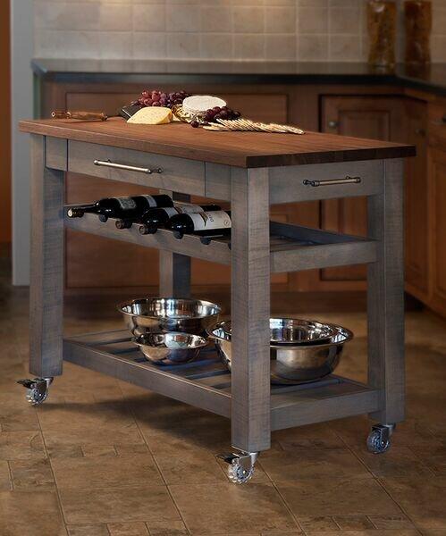 martins homewares metro mobile kitchen island with walnut top reviews wayfair - Mobile Kitchen Island