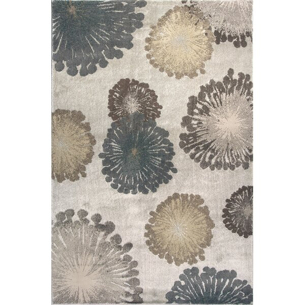 Timeless Silver Starburst Area Rug