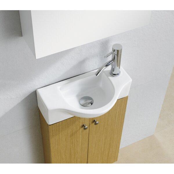 "Fine Fixtures Modern Vitreous D Shaped 18"" Wall Mount Bathroom Sink & Reviews"