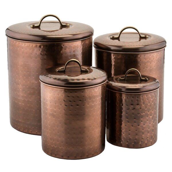 old dutch 4 piece kitchen canister set amp reviews wayfair ca