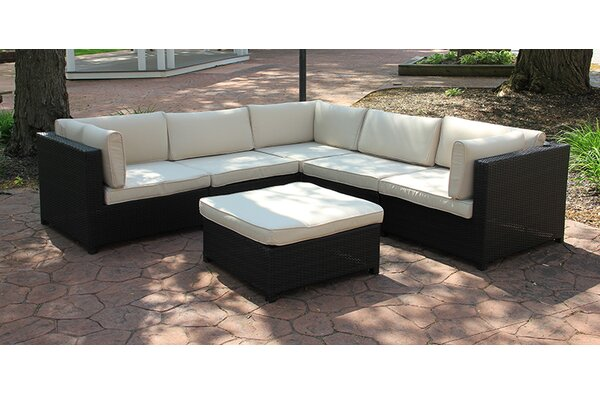 Northlight Outdoor Furniture Sectional Sofa Set with Cushions & Reviews |  Wayfair - Northlight Outdoor Furniture Sectional Sofa Set With Cushions