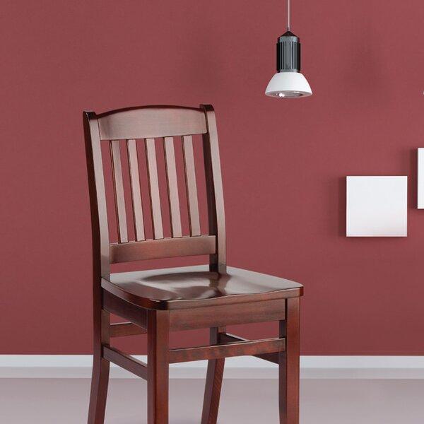 Bulldog Wood Chair ~ Holsag bulldog solid wood dining chair reviews wayfair