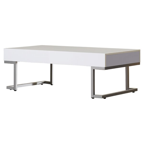 Vida Modern Coffee Table - Modern White Coffee Tables AllModern