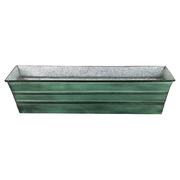 ACHLA Galvanized Metal Window Box Planter & Reviews | Wayfair
