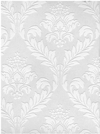 Paintable 33 X 20 Quot Damask 3d Embossed Wallpaper Amp Reviews