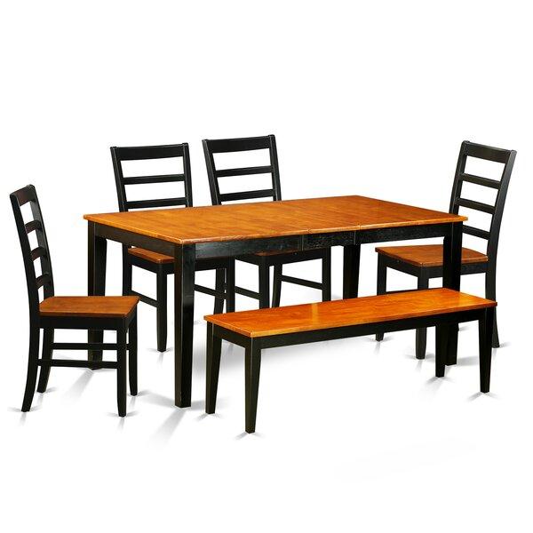 East West Nicoli 6 Piece Dining Set: East West Nicoli 6 Piece Dining Set