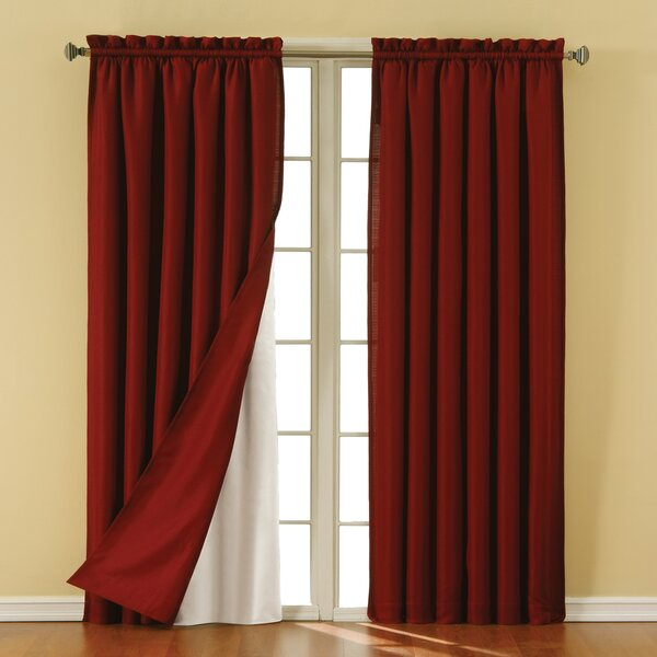 Eclipse Curtains Rod Pocket Blackout Curtain Panels Liner ...