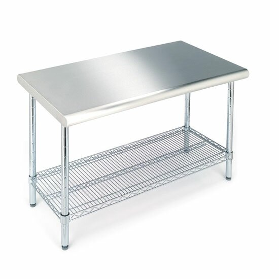 Mercury Row Prep Table With Stainless Steel Top Amp Reviews