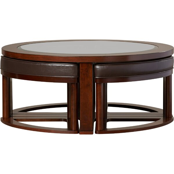 Duncan Storage Coffee Table: Darby Home Co Eastin 5 Piece Coffee Table And Stool Set