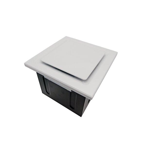 Quiet Box Recessed Lighting : Aero pure super quiet cfm bathroom ventilation fan