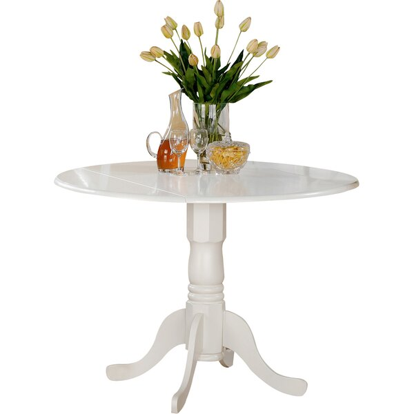 Round kitchen dining tables you 39 ll love wayfair for Single leg dining table
