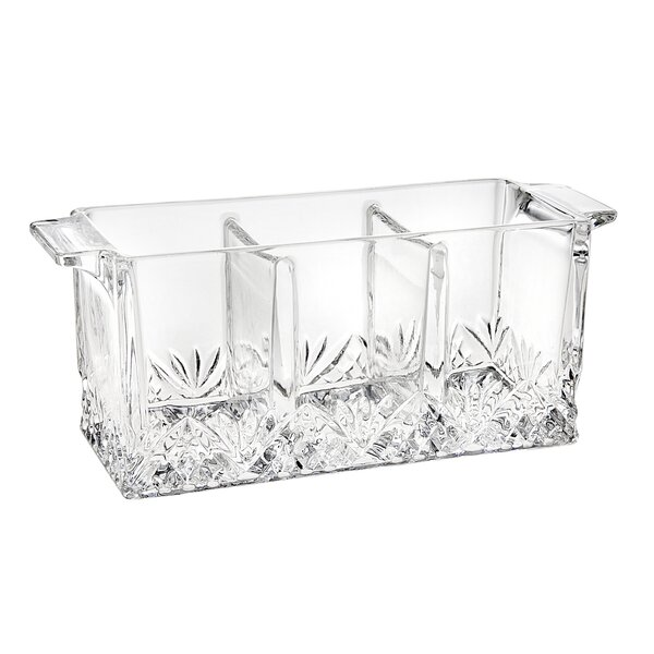 godinger silver art co dublin 3 section handled rectangle flatware caddy u0026 reviews wayfairca