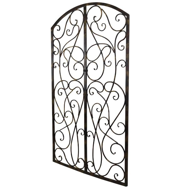 bayaccents wrought iron scroll panel wall d u00e9cor