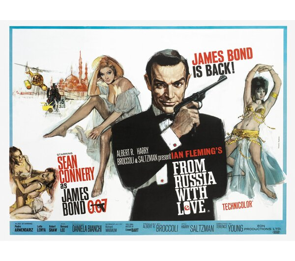 art group leinwandbild james bond from russia with love. Black Bedroom Furniture Sets. Home Design Ideas