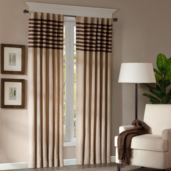 Madison Park Connell Dune Light-Filtering Striped Curtain Panels ...