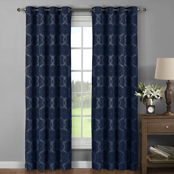 Window Elements Avila Printed Cotton Extra Wide Grommet Curtain ...