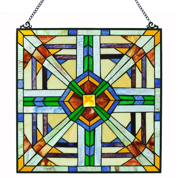 River Of Goods Mission Southwest Stained Glass Window