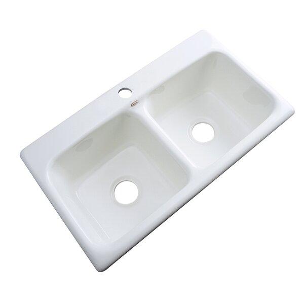 "solidcast portland 33"" x 19"" kitchen sink & reviews | wayfair"