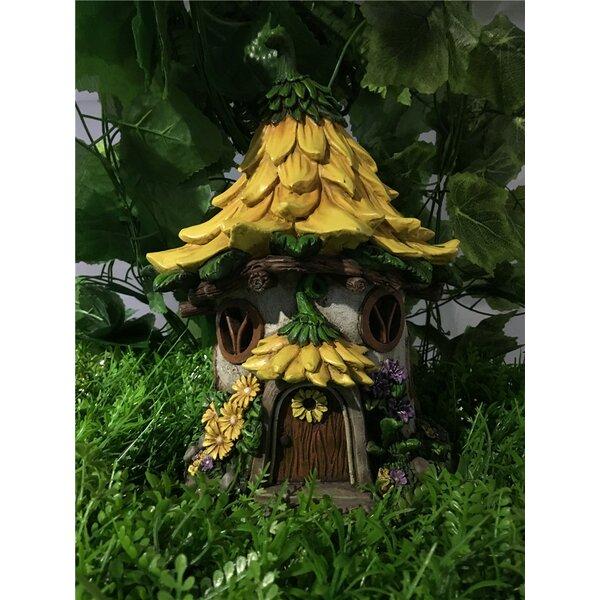 Hi Line Gift Ltd Fairy Garden House With Sunflower Roof