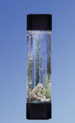 Midwest tropical fountain aqua 30 gallon tower pentagon for Tower fish tank