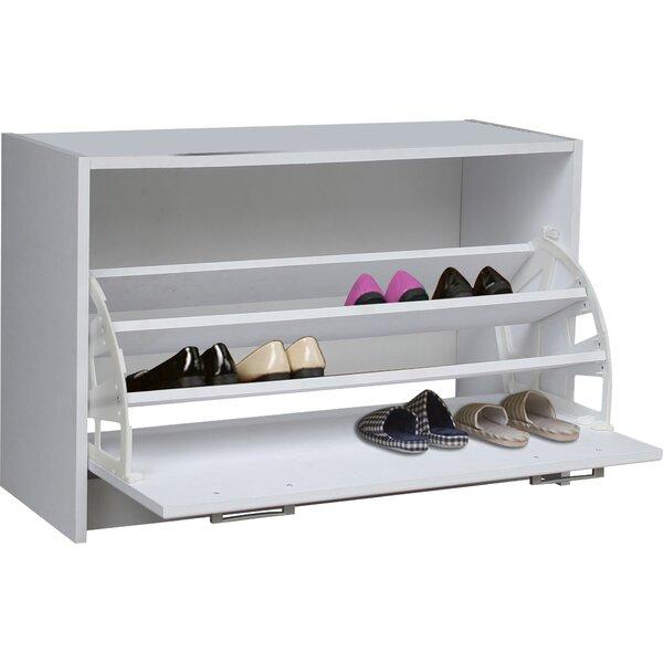 4d concepts single 12 pair shoe storage cabinet reviews wayfair - Shoe cabinet for small spaces concept ...