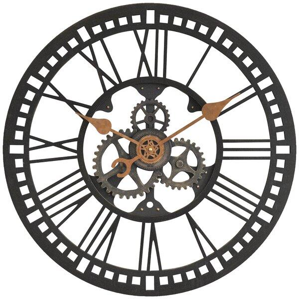 Firstime 24 roman gear wall clock reviews wayfair for Decoration murale wayfair