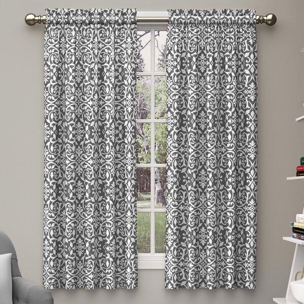 Damask Curtains & Drapes You'll Love | Wayfair