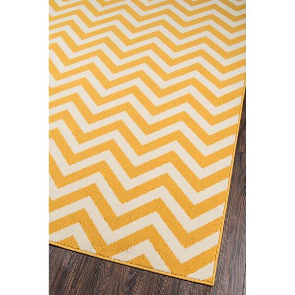 breakwater bay norris yellow white indoor outdoor area rug reviews wayfair. Black Bedroom Furniture Sets. Home Design Ideas
