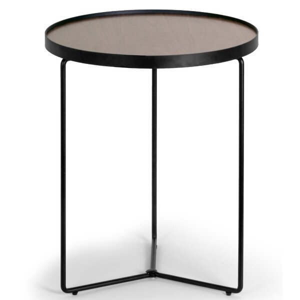 Ailsa Round Wooden End Table Allmodern