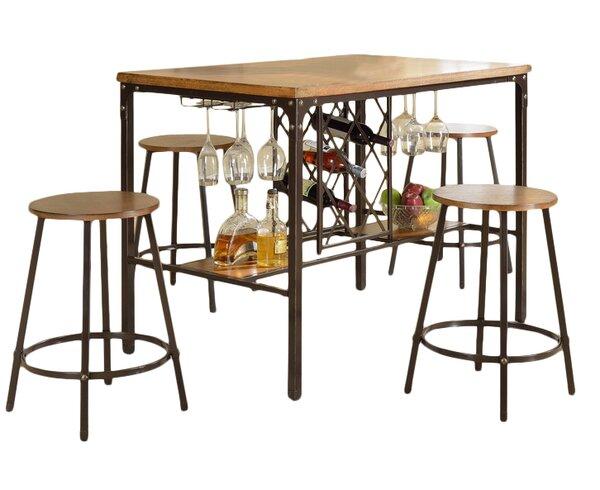 Bradley 5 piece pub table set reviews joss main for Cie publication 85 table 2