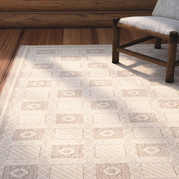 Martha Stewart Rugs Grand Parquet Creme Brown Area Rug