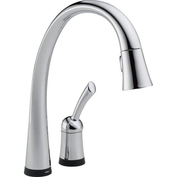 Delta Pilar Single Handle Standard Kitchen Faucet with Touch Technology    Reviews   Wayfair. Delta Pilar Single Handle Standard Kitchen Faucet with Touch