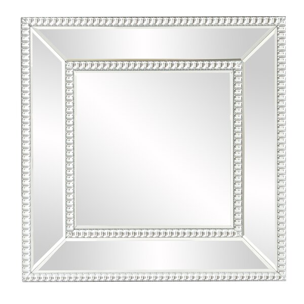 house of hampton mirrored frame wall mirror wayfair