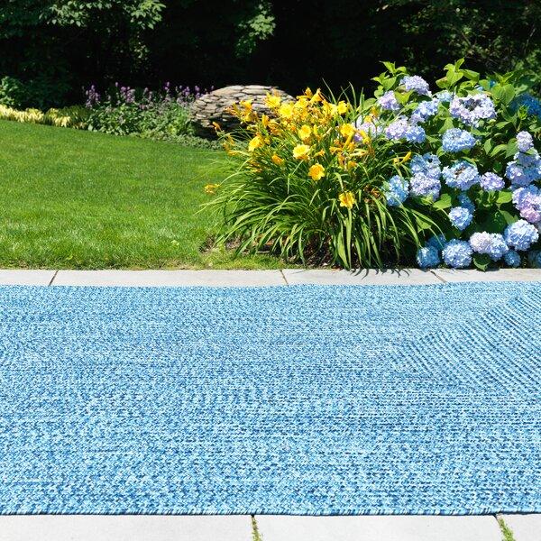 Andover Mills Rockland Blue Wave Indoor/Outdoor Area Rug u0026 Reviews | Wayfair
