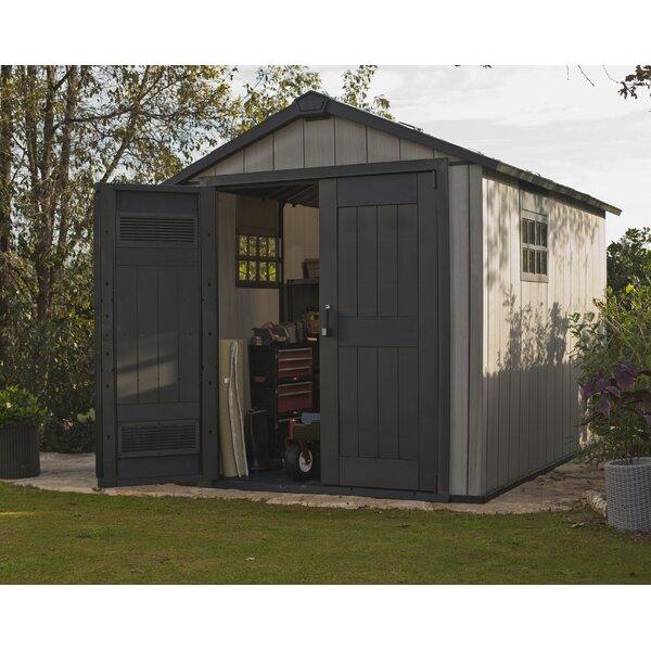 keter oakland plastic storage shed reviews wayfair. Black Bedroom Furniture Sets. Home Design Ideas