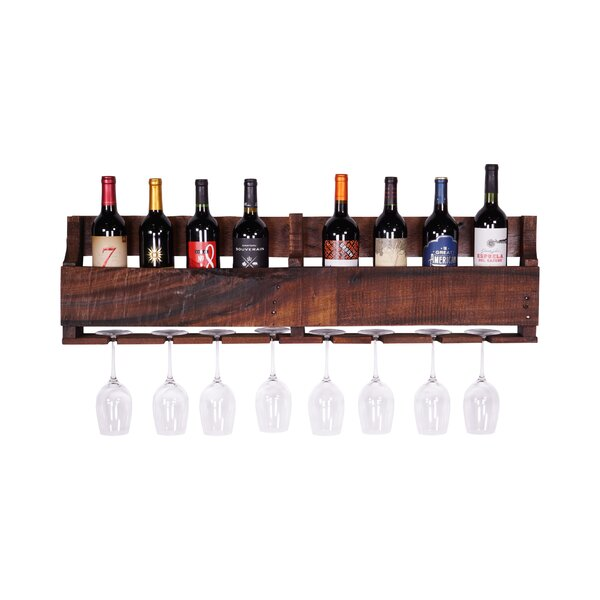 Delhutsondesigns 8 bottle wall mounted wine rack reviews for How to build a wine bar