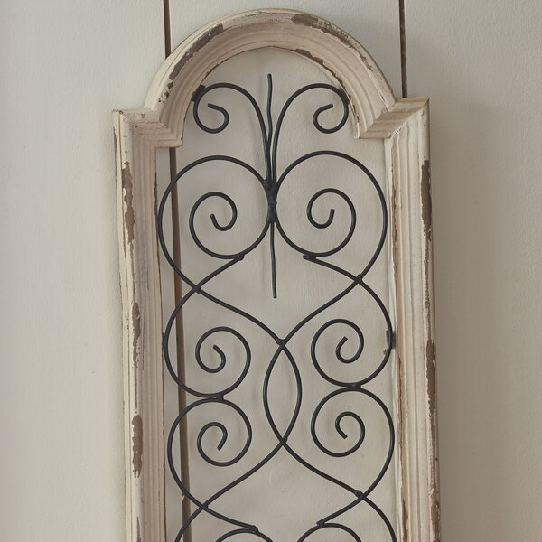 Wood Metal Wall Decor lark manor™ ivory wood/metal wall décor & reviews | wayfair supply