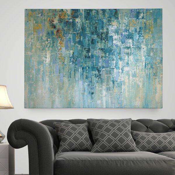 Abstract paintings abstract wall art you 39 ll love wayfair for Wayfair bathroom wallpaper